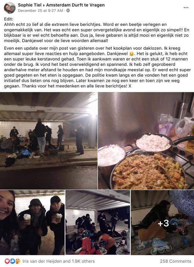 Sophie kookt voor groep daklozen en zorgt voor onvergetelijke kerstavond.