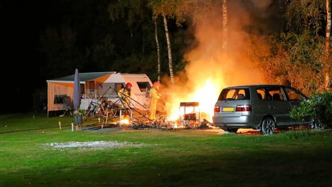 Stel komt om het leven in brandende caravan op camping Achterste Hoef in Bladel