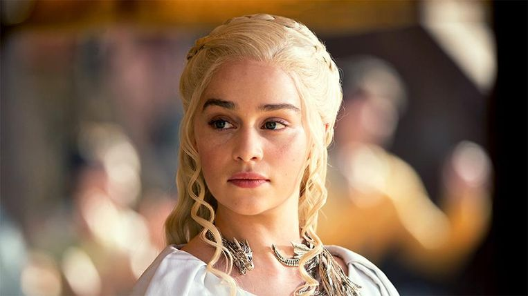 Emilia Clarke als Daenerys Targaryen in 'Game of Thrones. Beeld HBO