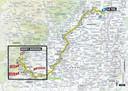 Het parcours van de zesde Touretappe van Le Teil naar de Mont Aigoual. Jerry Huinder en Kees Graafland fietsen de finale van die etappe, de laatste 50 kilometer.