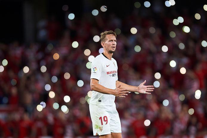 Luuk de Jong wacht nog altijd op zijn eerste goal namens Sevilla.