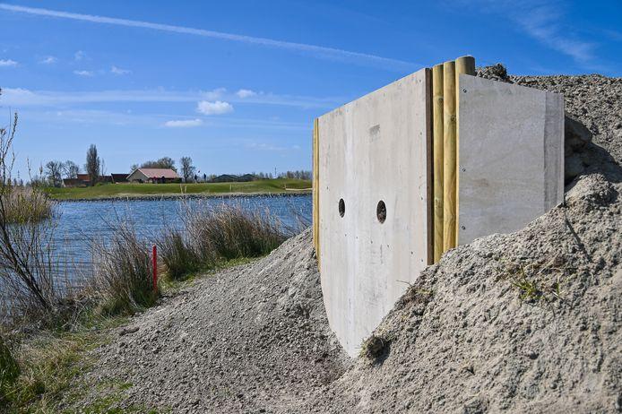 Zo ziet de ijsvogelwand er in Oostduinkerke uit.