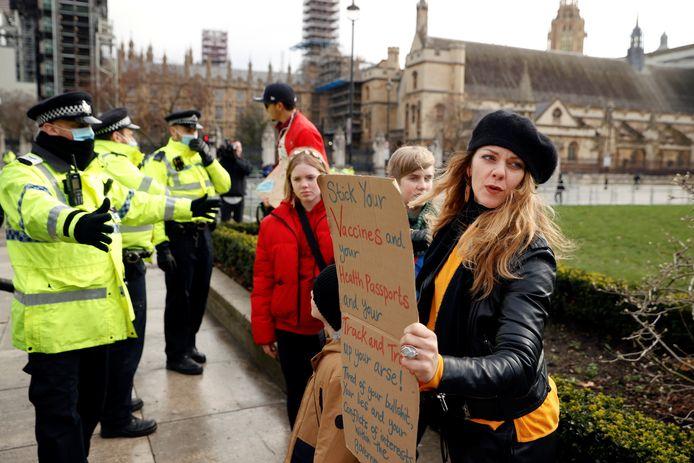 Demonstraties tegen de lockdown.