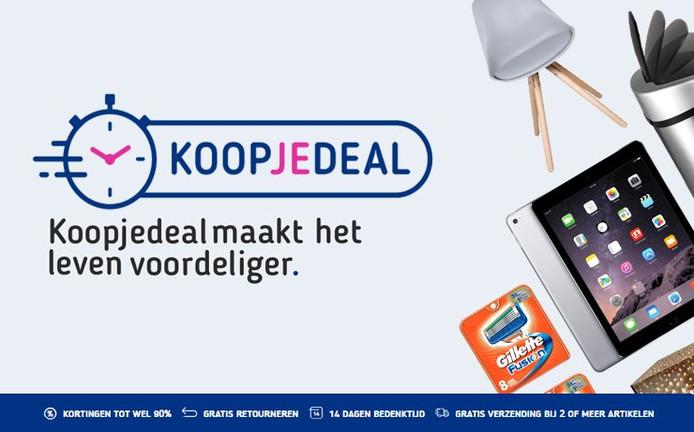 Online aanbiedingensite Koopjedeal.nl in betere tijden.