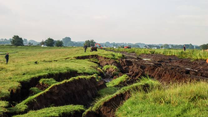 Dijkdoorbraak zet weilanden in Reeuwijk onder water: 'Bij de laatste controle was de dijk goed'