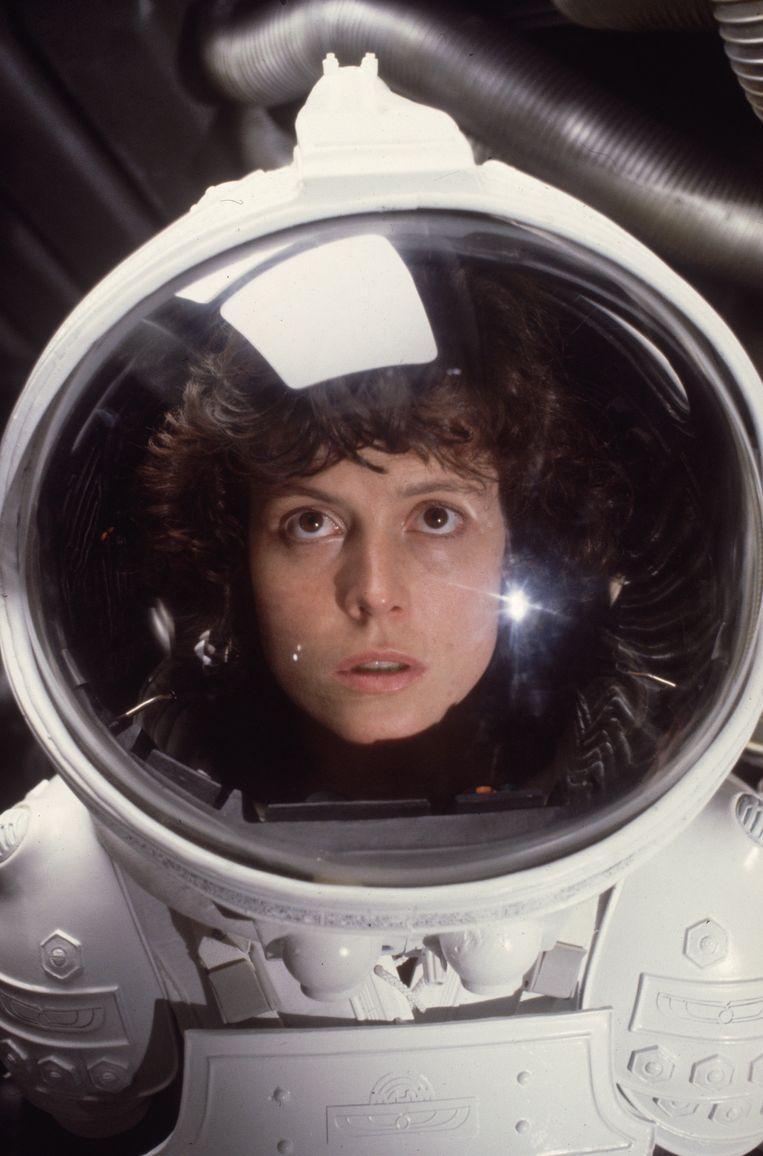 Sigourney Weaver als Ellen Ripley in Alien.  Beeld Getty