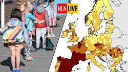 LIVE. België kleurt weer donkerder op Europese coronakaart - Aantal besmettingen in Brussel boven kritieke grens WHO