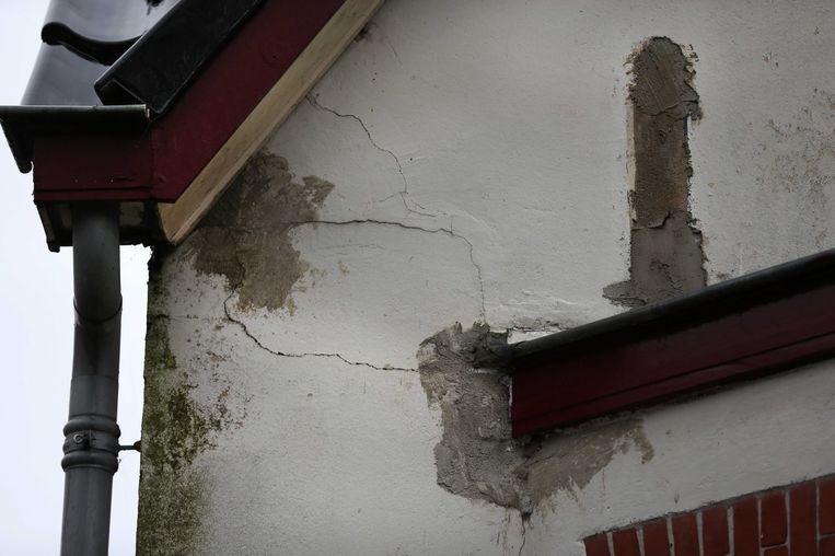 Schade aan een woning in Slochteren. Beeld null