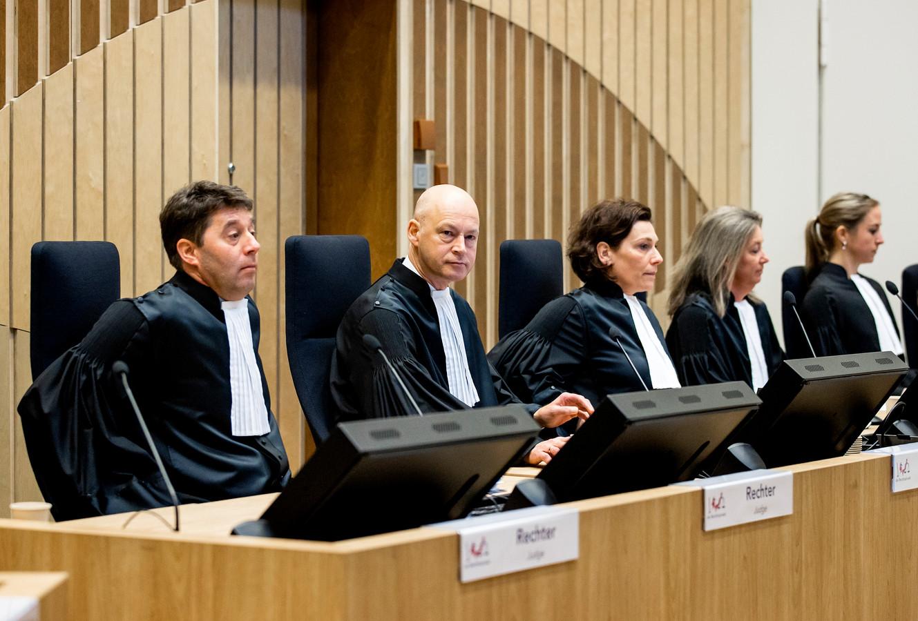 De rechtbank in het zwaarbeveiligde Justitieel Complex Schiphol, waar het internationale MH17-proces plaatsvindt.