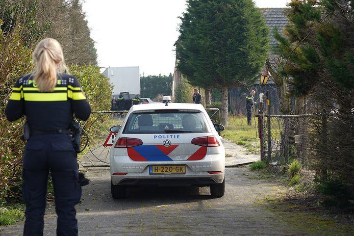 Mogelijk drugslab gevonden in loods van Jan B. in Hulten.