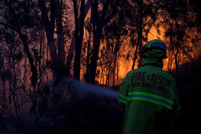 Archiefbeeld van een bosbrand in New South Wales.