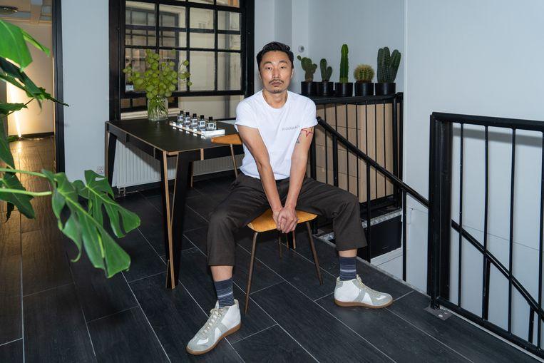 Hyun Yeu, bedenker van parfum Hunq:  'Het resultaat van de coronacrisis.'  Beeld Birgit Bijl