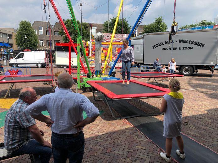 Alvast een snelle test van de trampolines.