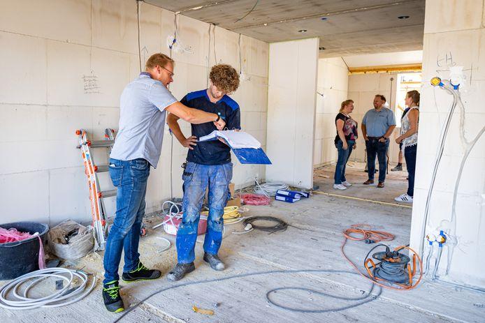 Toekomstige bewoners hebben nog wel wensen voor hun huis in wooncomplex Noabershof op 'n Esch.