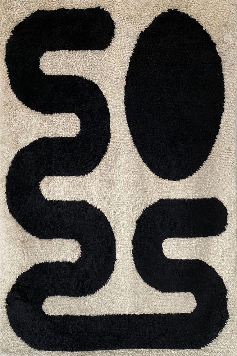 Handgemaakt vloerkleed, naar een schilderij van Saana Mirzaie. Beeld Zakaria Rugs