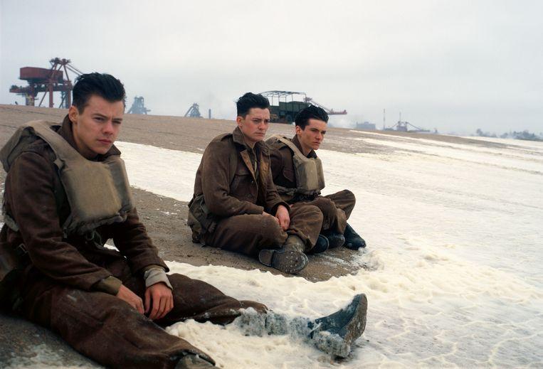 Een beeld uit 'Dunkirk'.