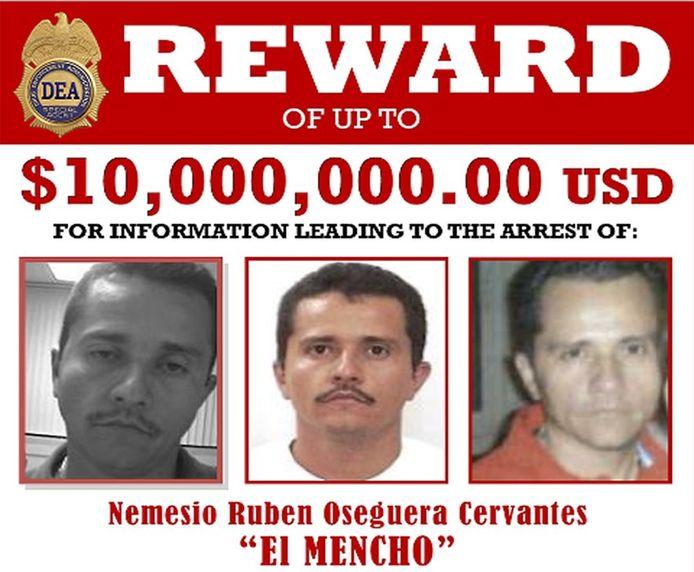 Nemesio Oseguera Cervantes, bijnaam El Mencho, is een van de meest gezochte drugsbazen ter wereld.
