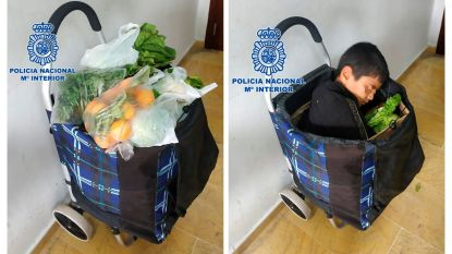 Jongen (10) verstopt zich in boodschappenkar om Spanje binnen te geraken