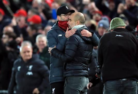 Jürgen Klopp en Pep Guardiola.