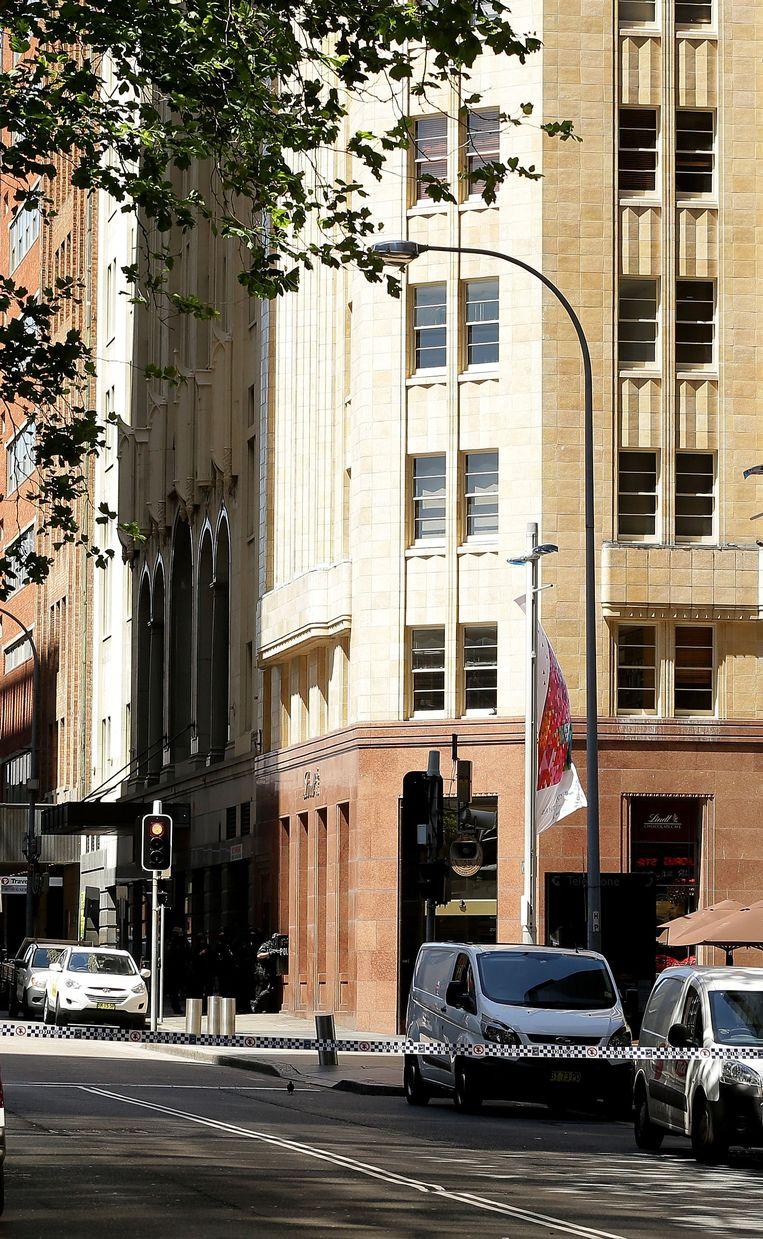 Politie voor het Lindt café in Sydney. Beeld getty