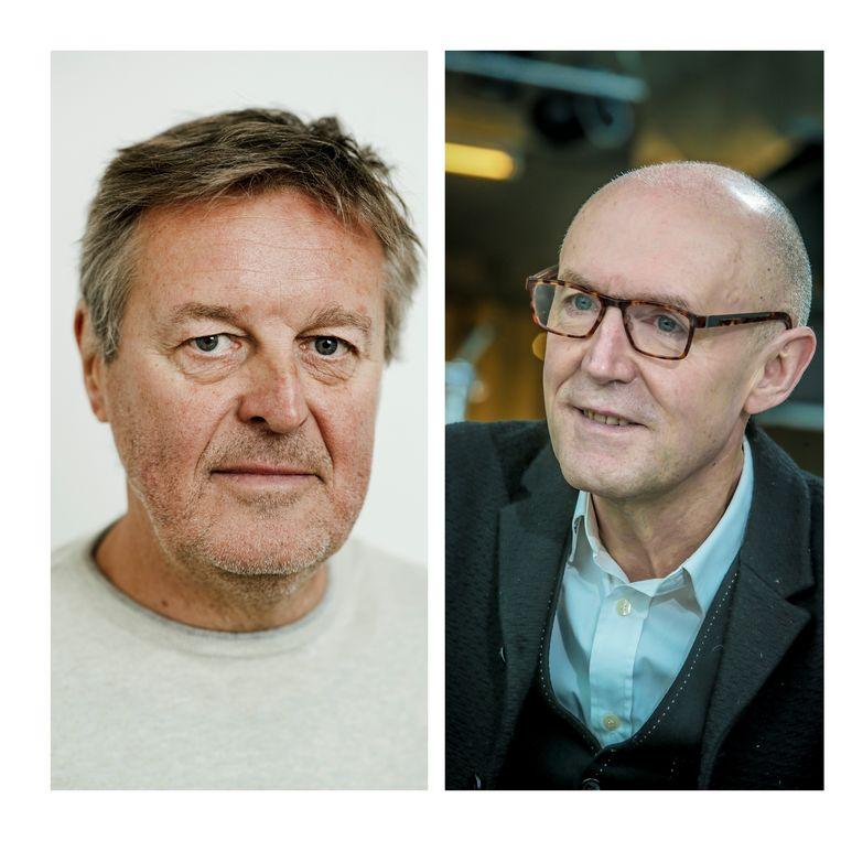 Frank Raes en Michel Wuyts moeten verplicht met pensioen bij de VRT. Beeld rv