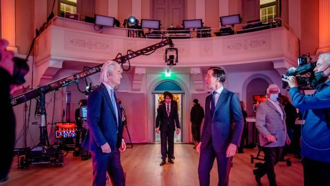Rutte door links en rechts aangevallen in eerste tv-debat