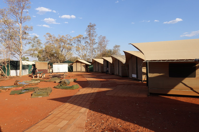 Campside in The Outback.