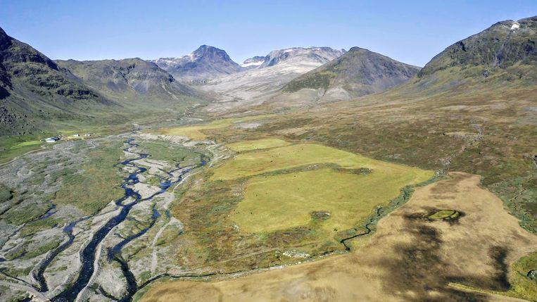In de Kvanefjeld berg in Groenland zijn zeldzame grondstoffen te vinden waar zowel China, de EU, als de VS op azen.   Beeld REUTERS