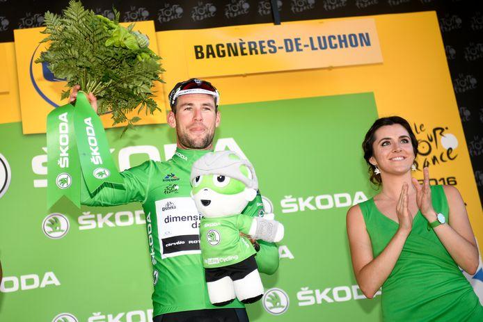 In 2016 mocht Cavendish voor het laatst pronken met de groene trui in de Tour.