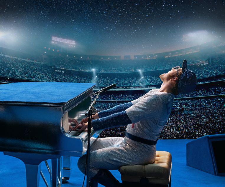 Taron Egerton as Elton John in 'Rocketman'. Beeld David Appleby