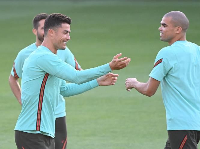 Ronaldo neemt Pepe in de maling, razende rondo op training Oranje