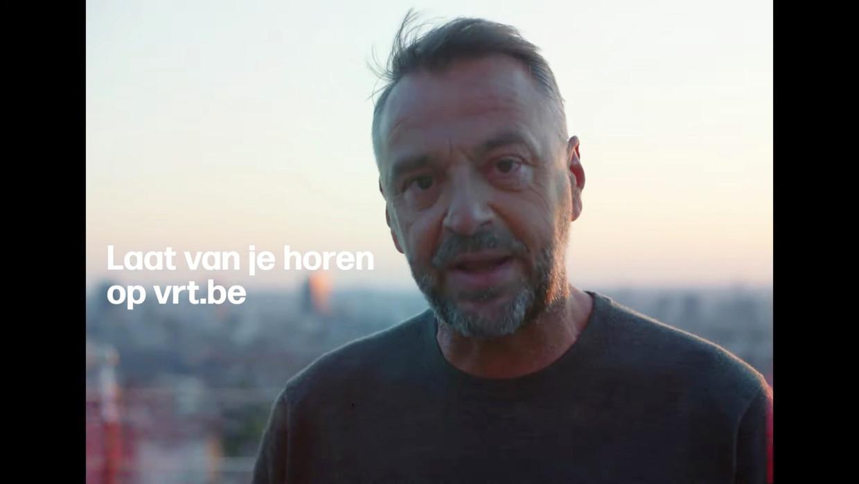 Tom Waes in de campagne van 'Jouw VRT' Beeld VRT