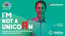 Naar aanleiding van de internationale Zeldzame Ziektendag op 28 februari, lanceert RaDiOrg, de Belgische koepelvereniging voor mensen met een zeldzame ziekte, de #notaunicorn-campagne. Hier met Sven op de foto.