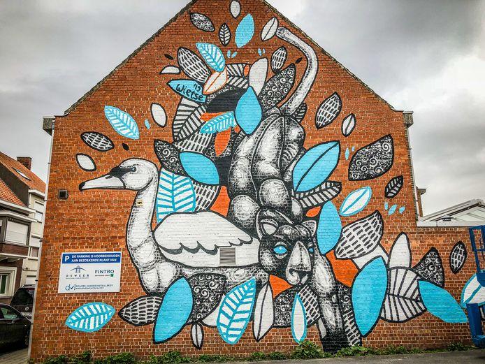 Een 'mural' van Wietse