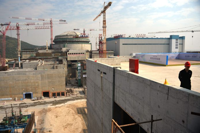 De kerncentrale light bij Taishan in de dichtbevolkte Chinese provincie Guangdong