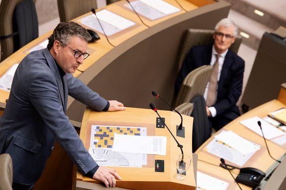 Minister Koen Van den Heuvel (CD&V) en minister-president Geert Bourgeois (N-VA).