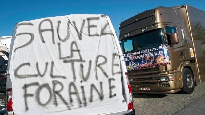 Les forains de Charleroi manifestent à Bruxelles et envisagent d'autres actions