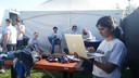 Studenten en onderzoekers van JADS op het Paaspopterrein.