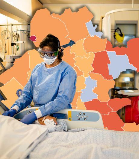 KAART | Olst-Wijhe geeft opnieuw het goede voorbeeld, halvering van positieve tests in Flevoland