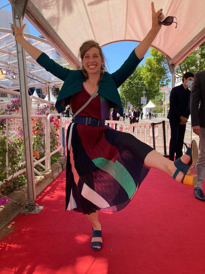 Sarah Menheere zette haar beste beentje voor op het Filmfestival van Cannes