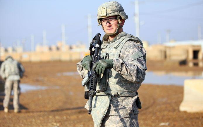 Een Amerikaanse militair in Irak.