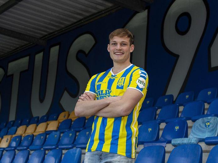 Thijs Oosting voor het eerst in het shirt van RKC Waalwijk.
