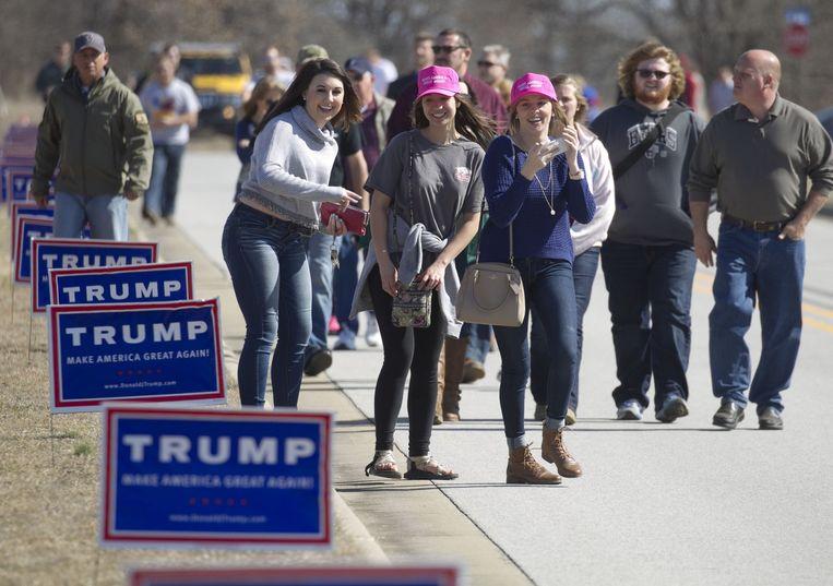 Aanhangers van Trump. Beeld afp