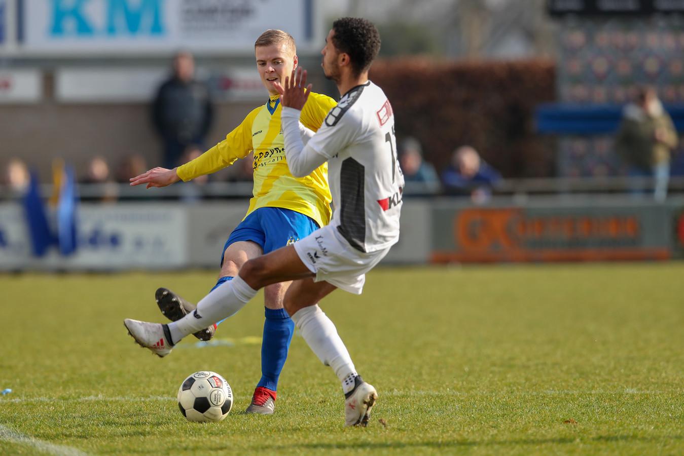 Thijs Gerlofs, hier in een eerdere wedstrijd dit seizoen, maakte zaterdag tegen WHC de winnende goal.