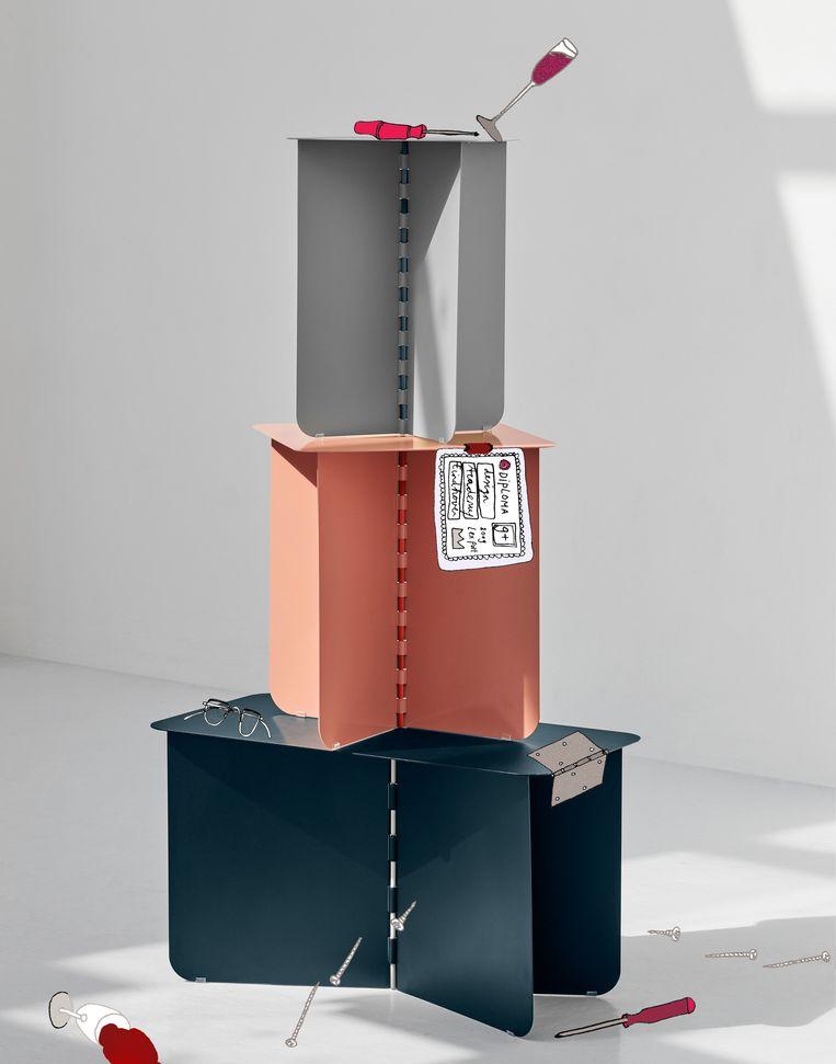'Hinge'-tafel  van ontwerper Lex Pott Beeld illustratie Vanessa OOstijen