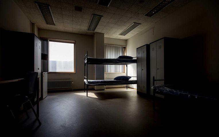 2016-09-08 14:42:55 AMSTERDAM - Interieur tijdens de open dag in azc Amsterdam, de voormalige Bijlmerbajes. De voormalige gevangenis is is sinds juni gesloten en is omgebouwd tot asielzoekerscentrum. ANP KOEN VAN WEEL Beeld anp