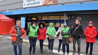Werknemers Carrefour houden winkel hele dag gesloten