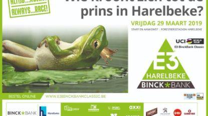 """E3 BinckBank Harelbeke stelt na controverse nieuwe banner voor: """"Onze kikker viel van zijn troon"""""""