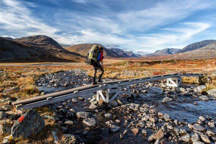 Beeld ter illustratie. De Kungsleden (Koningspad) is een pad van ongeveer 425 kilometer lang in het noorden van Zweden.