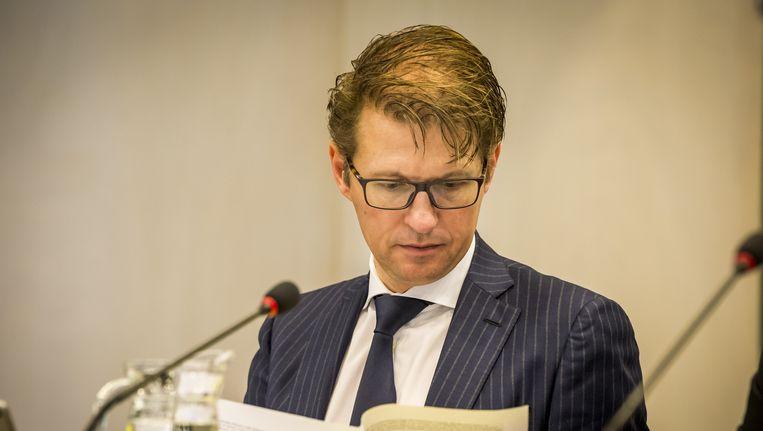 Minister woensdag tijdens het debat in de Tweede Kamer over georganiseerde criminaliteit. Beeld null